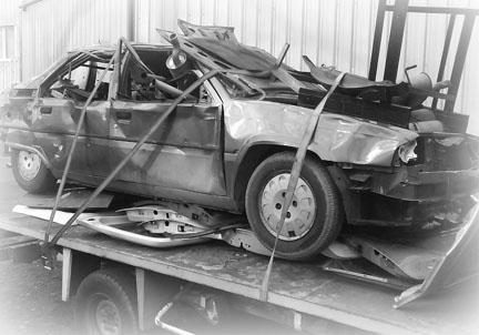 BX de Nat apres accident